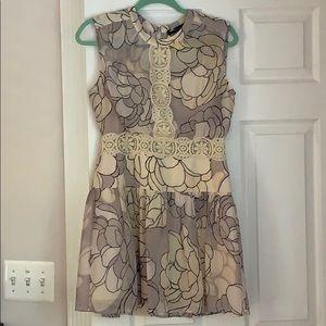 Bcbgmaxazria multi-toned neutral mini dress.